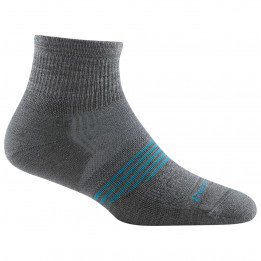 Darn Tough - Womens Athletic Quarter Lightweight With Cushion - Sports socks size L, black/grey