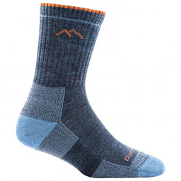 Darn Tough - Womens Hiker Micro Crew Midweight With Cushion - Walking socks size L, blue/grey/black