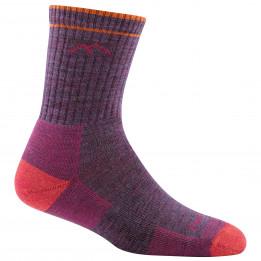 Darn Tough - Womens Hiker Micro Crew Midweight With Cushion - Walking socks size M, purple