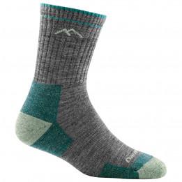 Darn Tough - Womens Hiker Micro Crew Midweight With Cushion - Walking socks size S, black/grey