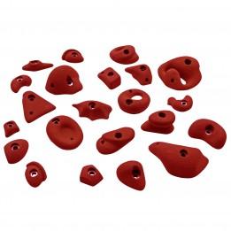 Produktabbildung: KMZ Holds - Set 1 - 22er S-XL - Klettergriffset - Rot
