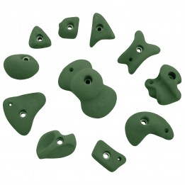 Produktabbildung: KMZ Holds - Set 4 - 11er S-XL - Klettergriffset - Grün