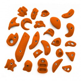 Produktabbildung: KMZ Holds - Set 6 - 24er Klettergriffset - Orange