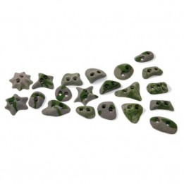 Produktabbildung: Metolius - Screw-On Footholds - 20er Tritt-Set - Set B - Flowstone