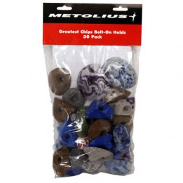 Produktabbildung: Metolius - Greatest Chips 30 Stück - Klettergriffset - ösorted Colours