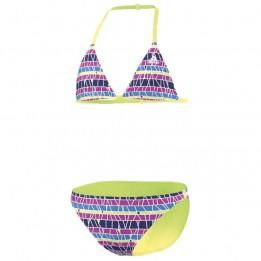 Adidas - Girl's Striped Bikini - Bikini - Gr. 140, rosa/blau S20798