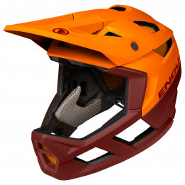 Endura - MT500 Full Face Helm - Casco de ciclismo size S-M, naranja/rojo/negro