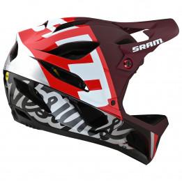 Troy Lee Designs - Stage Helmet MIPS - Casco integral size XL/XXL, negro/gris/rojo