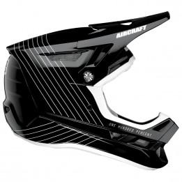 100% - Aircraft DH Composite Helmet - Casco integral size L;XL, negro/gris