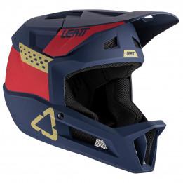 Leatt - MTB 1.0 DH Helmet - Casco de ciclismo size XL, negro/azul