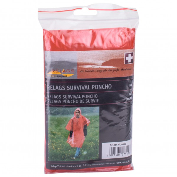 Basic Nature - Survival Poncho - Waterproof Jacket Size One Size  Grey/black/pink
