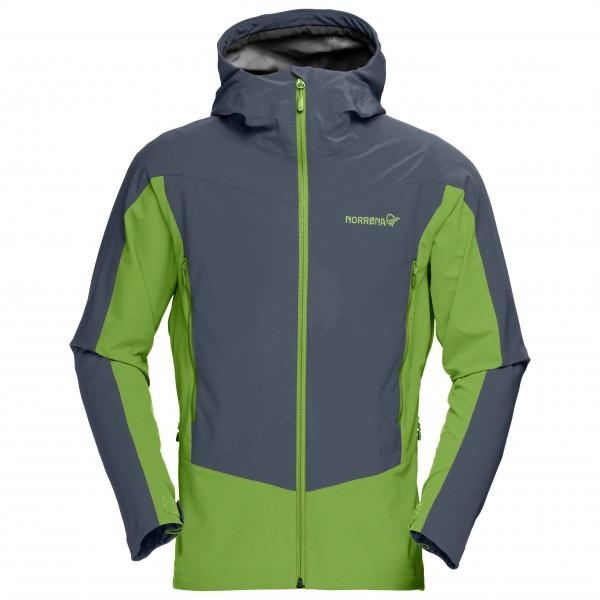 Norrøna - Falketind Windstopper Hybrid Jacket Gr M grün/blau/schwarz