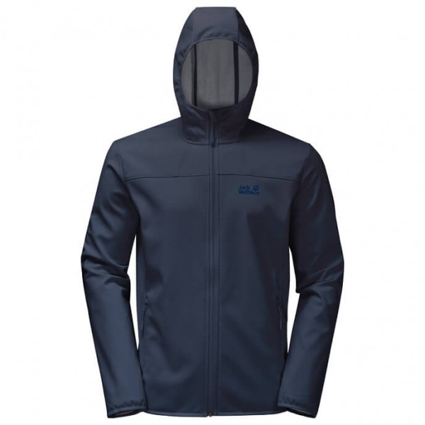 Jack Wolfskin Northern Point Softshelljack maat XXL zwart-blauw