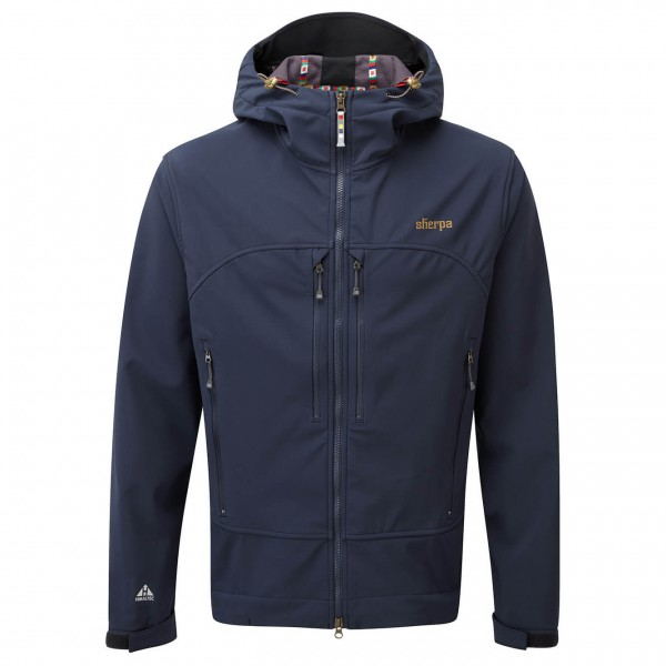 Hornow-Wadelsdorf Angebote Sherpa - Nilgiri Hooded Jacket Softshelljacke Gr M;XL schwarz/blau;schwarz