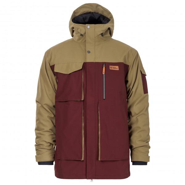 #Horsefeathers – Herald Jacket – Skijacke Gr L rot/braun#