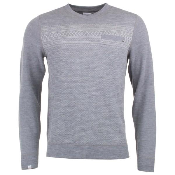 We Norwegians - Setesdal V-Neck Sweater Merinopullover Gr S grau Sale Angebote Drieschnitz-Kahsel
