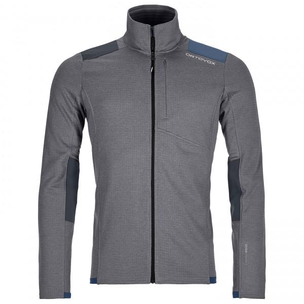 Ortovox - Fleece Light Grid Jacket - Fleece Jacket Size Xl  Grey/black