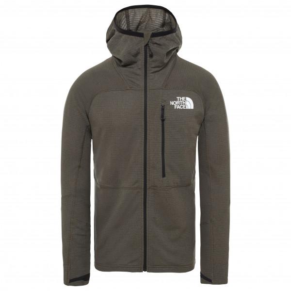 The North Face - Summit L2 Power Grid Lt Hoodie - Fleece Jacket Size L  Brown/black/olive