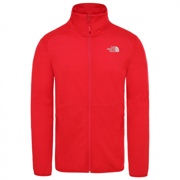 The North Face - Quest Fullzip Jacket - Fleece Jacket Size L  Red