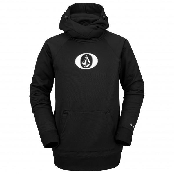 volcom - hydro riding hoodie - fleecetrui maat l, zwart