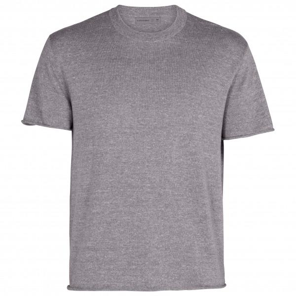 Icebreaker - Flaxen S/s Crewe Sweater - Merino Shirt Size S  Grey
