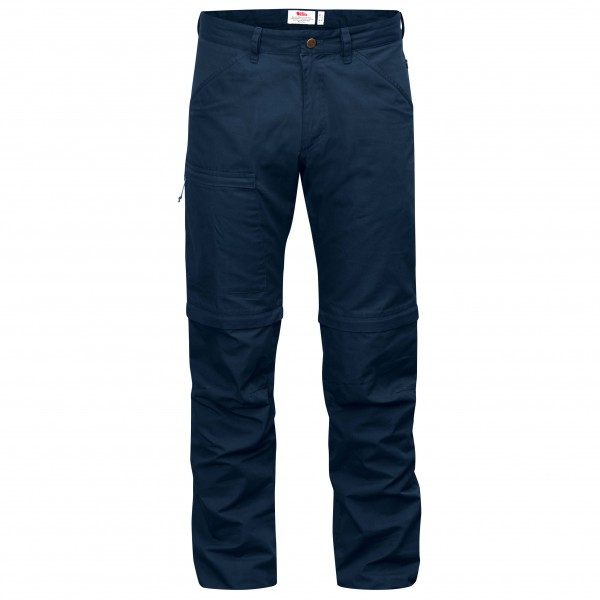 Fjllrven - High Coast Trousers Zip-off - Walking Trousers Size 56 - Long - Fixed Length  Blue/black