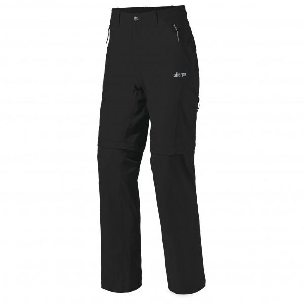 Sherpa - Khumbu Convertible Pant - Trekkinghose Gr 38 - Short schwarz