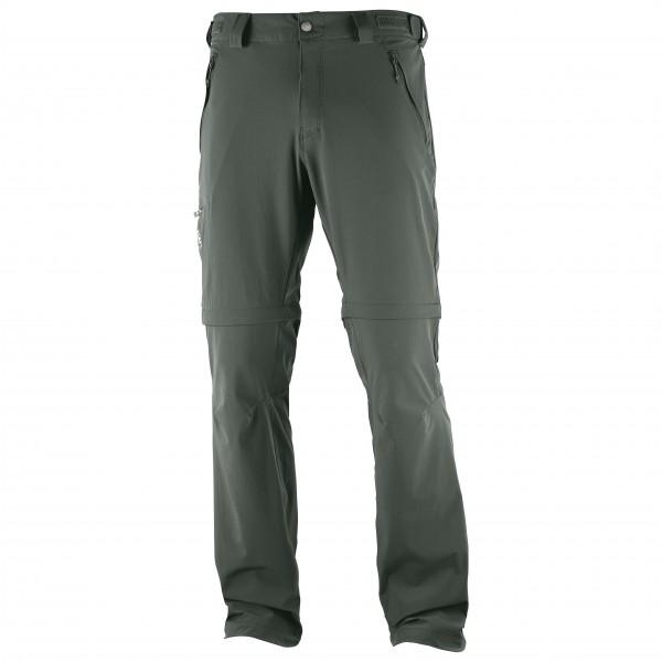Salomon - Wayfarer Straight Zip Pant - Trekkinghose Gr 46 schwarz/grau/oliv