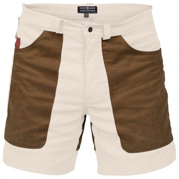 Amundsen Sports - 7Incher Field Shorts - Shorts Gr M weiß/braun Preisvergleich