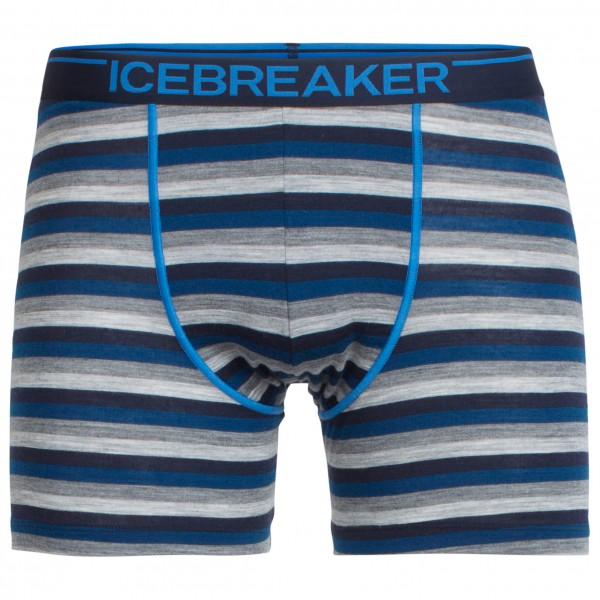 Icebreaker Anatomica Boxers Unterhose blau/grau Herren Gr. XL - broschei