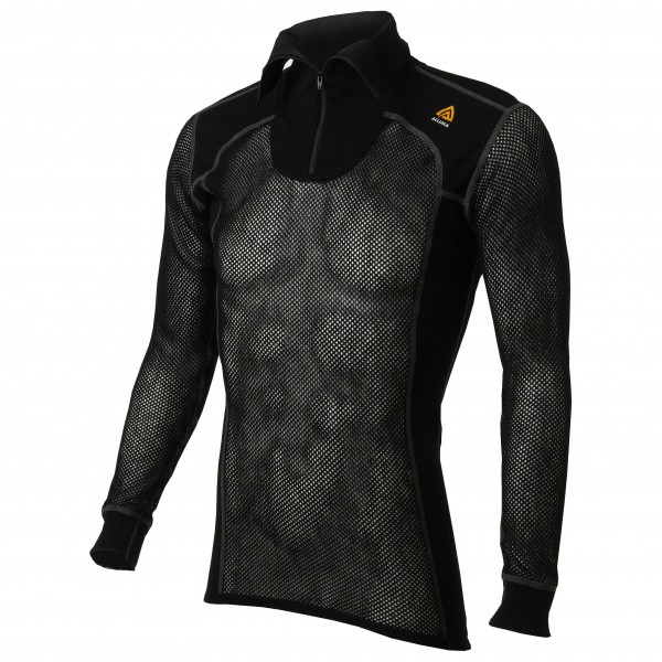 Aclima - WN Polo Zip - Merinounterwäsche Gr XL schwarz