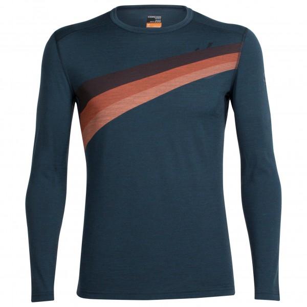 Haasow Angebote Icebreaker - Oasis L/S Crewe Ascent Stripe Gr L;S;XL;XXL blau/schwarz;grau;gelb/orange;blau