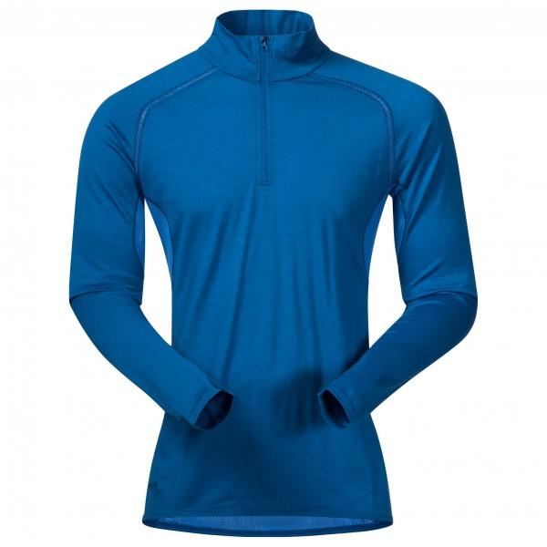 Bergans Barlind Half Zip Shirt Men - Netz Unterwäsche aus Merinowolle - ocean light blue/blue - Gr.M