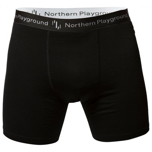 #Northern Playground – Boxer Organic Wool and Silk – Merinounterwäsche Gr L schwarz#