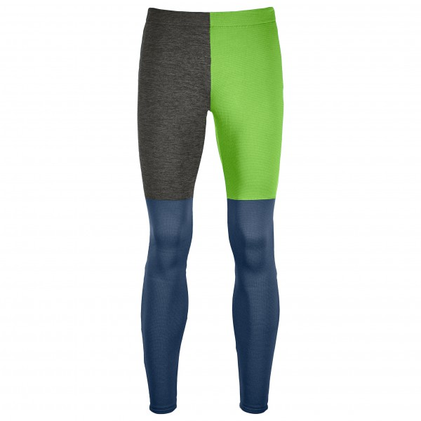 Ortovox - Fleece Light Long Pants - Merinounterwäsche Gr XXL blau/grün/schwarz