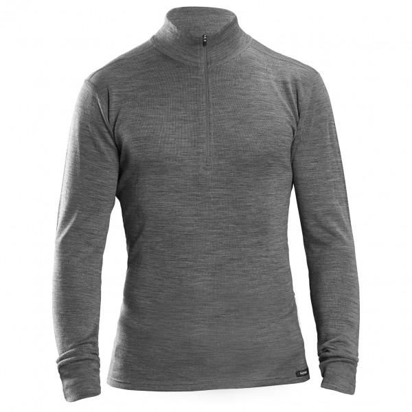 Gripgrab - Merino Bamboo Half Zip Long Sleeve Base Layer - Merino Base Layer Size Xs  Grey/black