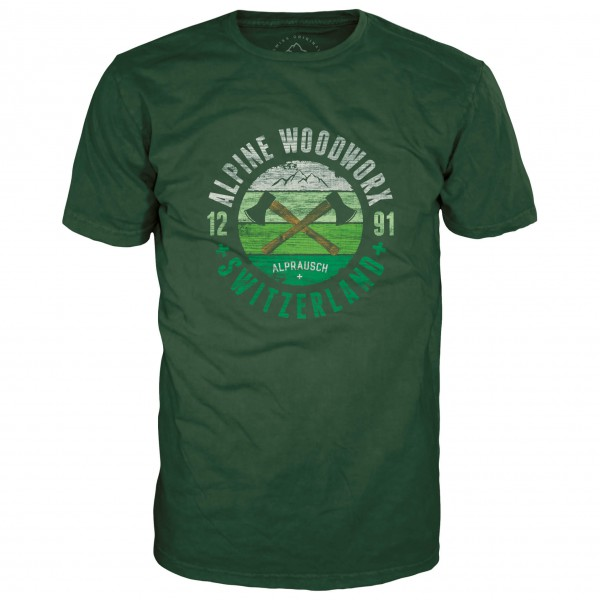 Alprausch - Holzwerk T-Shirt Gr S oliv