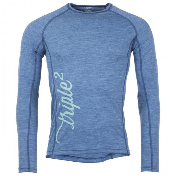 Triple2 - Lang Shirt Longsleeve Gr XXL grau
