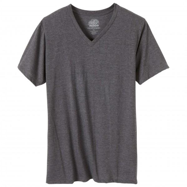 Prana - V-Neck Slim Fit T-Shirt Gr M schwarz/grau Sale Angebote Gastrose-Kerkwitz