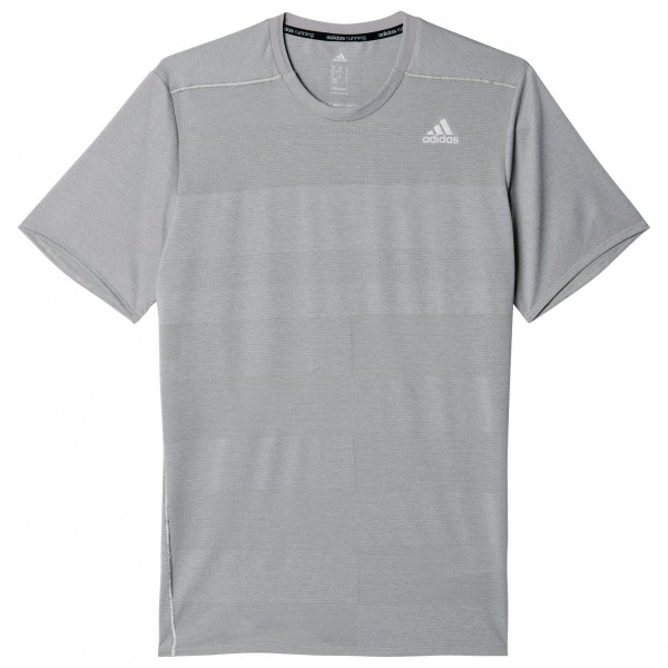 adidas Supernova Short Sleeve Joggingshirt maat XL grijs