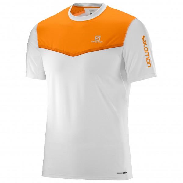Salomon - Fast Wing S/S Tee Laufshirt Gr L grau/orange Sale Angebote