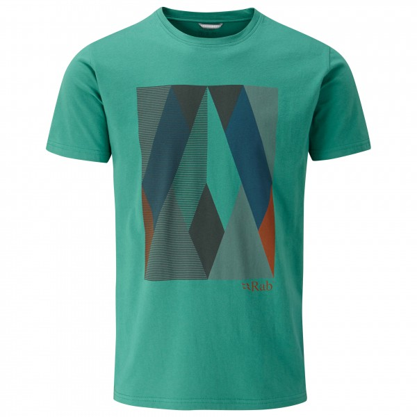 Rab - Rock Graphic Tee - T-Shirt Gr XL türkis