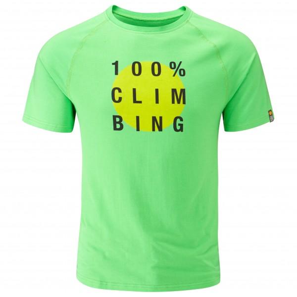 Moon Climbing - 100% Tech Tee T-Shirt Gr L;S;XL grün;türkis