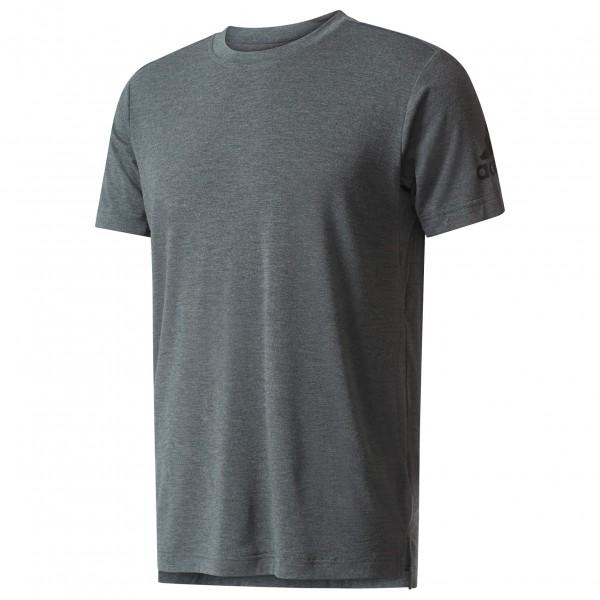 adidas - Freelift Tee Prime Laufshirt Gr L grau/schwarz - broschei