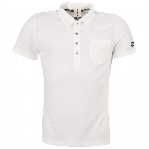SuperNatural - Comfort Piquet Polo - Polo-Shirt Gr S weiß/grau