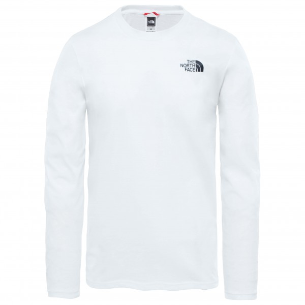 The North Face - L/s Easy Tee - Longsleeve Size L  White