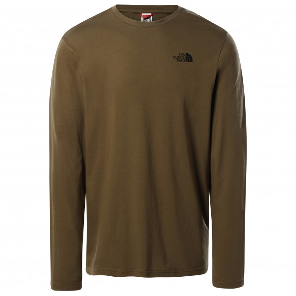The North Face - L/s Easy Tee - Longsleeve Size M  Brown