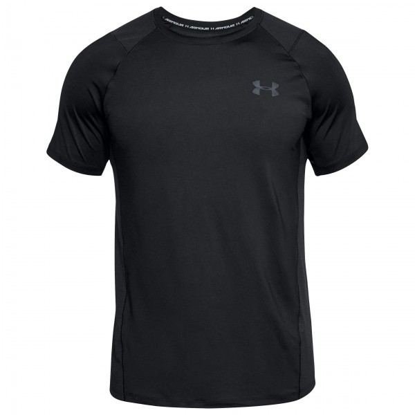 Under Armour - Raid 2.0 S/S Left Chest Funktionsshirt Gr L schwarz/ stealth gray