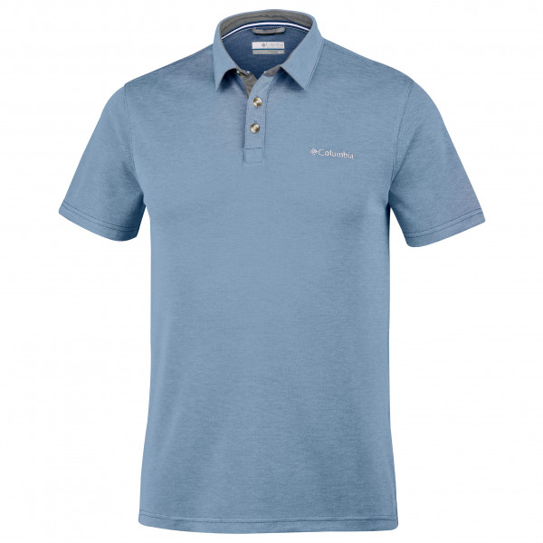 Columbia - Nelson Point Polo - Polo Shirt Size S - Regular 27  Grey/blue