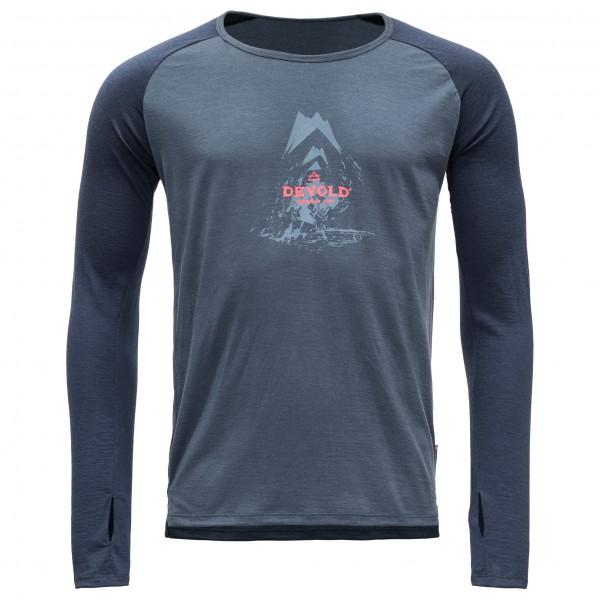 Devold - Romedal Shirt - Longsleeve Gr M blau/grau/schwarz
